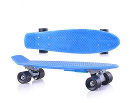Скейтборд для начинающих «Пенни борд» голубой, без подсветки