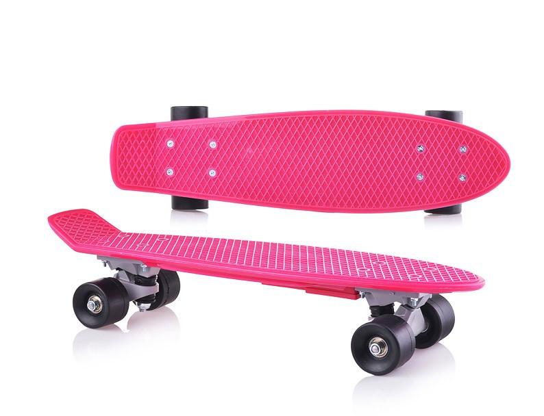 Дитячий скейтборд.Пенні борд для дітей малиновий, без підсвітки
