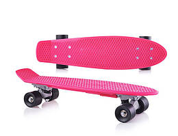 Детский скейтборд.Пенни борд для детей малиновый, без подсветки.Скейт детский.