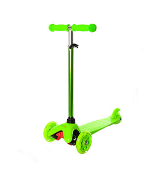 Самокат детский.Трехколесный детский самокат iTrike Scooter.Самокат с подсветкой колес (Зелёный)