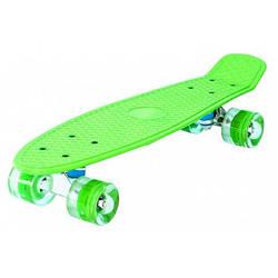 Детский скейт пенни борд с подсветкой(Зелёный)