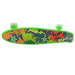 Пенни борд, детский скейтборд с подсветкой  (Зелёный)