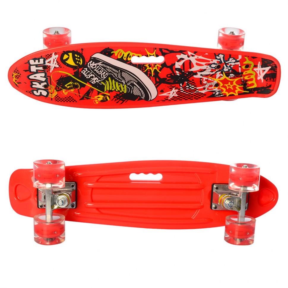 Скейт пенні борд дитячий.Скейтборд з такими колесами (Red)