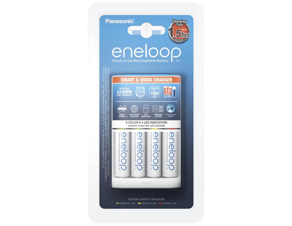 Зарядний пристрій Smart-Quick Charger+Eneloop 4AA 1900 mAh NI-MH