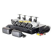 Комплект видеонаблюдения UKC DVR KIT 520 AHD 4ch 1080 H.264 регистратор и 4 камеры