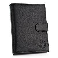 Мужской кошелек из натуральной кожи. Мужской клатч. Кожаный кошелек Betlewski с защитой RFID BPM-GTN-64 черный