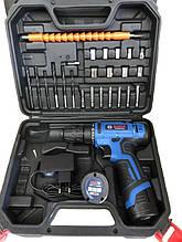 Аккумуляторный шуруповертBOSCH GSR 120Li c набором инструментов и гибким валом Бош