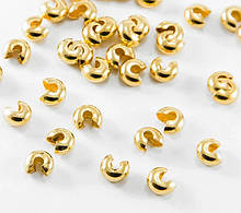 Кришка Кримпов (стоперів) Золото 4 мм 10 шт