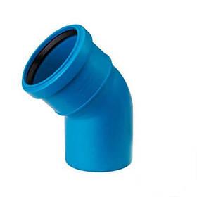 Колено (отвод) для наружной бесшумной канализации Valsir Triplus 32х45°