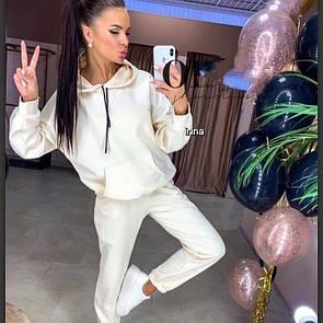 Мелани женский спортивный оверсайз костюм толстовка с капюшоном белый