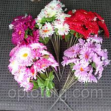 Искусственные цветы Ромашка букет 5 цветов