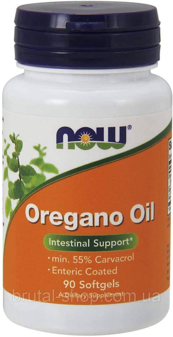Масло орегано,  Now Foods Oregano Oil  90 Softgels