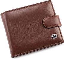 Кожаный кошелек на кнопке из гладкой кожи ST Leather