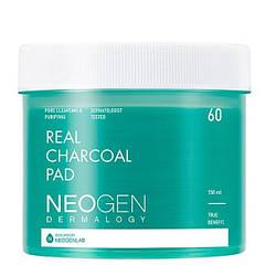 Очищаючі педи з деревним вугіллям Neogen Dermalogy Real Charcoal Pad