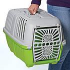 Переноска для тварин 48*31.5*33 см MPS PRATІKO 1 GREEN. Двері пластикова, фото 3