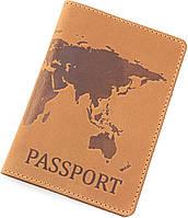 Обложка для паспорта из кожи с рисунком ST Leather