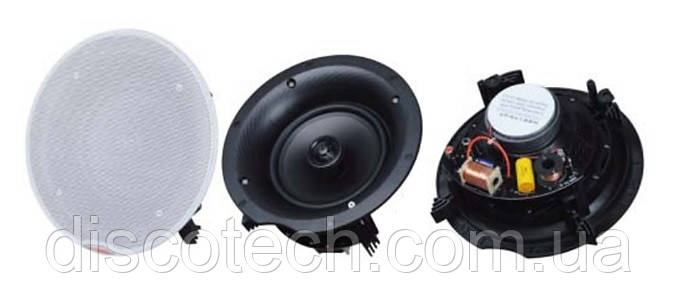 """Потолочный динамик 2х-полосный L-Frank Audio HSR175-6CT, 6.5"""", 30-40Вт, 100В"""
