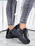 Жіночі кросівки шкіряні на високій підошві, фото 2
