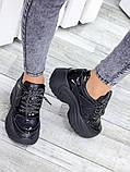 Жіночі кросівки шкіряні на високій підошві, фото 4