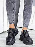 Жіночі кросівки шкіряні на високій підошві, фото 5