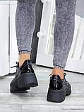Жіночі кросівки шкіряні на високій підошві, фото 6