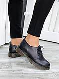 Черные женские туфли кожа, фото 3