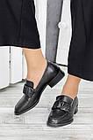 Туфли кожаные женские на низком каблуке, фото 2