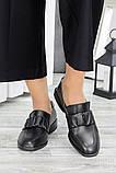 Туфли кожаные женские на низком каблуке, фото 3