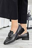 Туфли кожаные женские на низком каблуке, фото 4