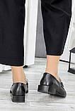 Туфли кожаные женские на низком каблуке, фото 5