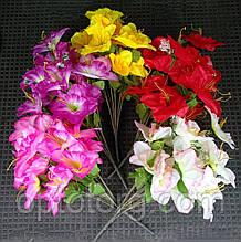 Искусственные цветы Нарциса букет 5 цветов