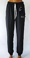 """Спортивні жіночі штани """"Emilia"""". Баталов. 52-60 розміри. Темно-сірий колір."""