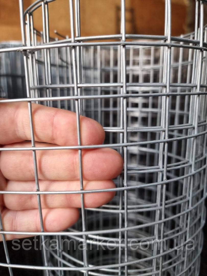 Сетка сварная оцинкованная, Ячейка 25х25 мм. Диаметр 1,6 мм.