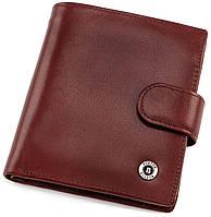 Стильный кожаный кошелек с фиксацией на кнопку BOSTON