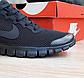 Мужские кроссовки Nike Free Run 3.0 (черные) О10053 весенняя спортивная обувь, фото 10