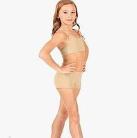 Спортивные телесные шорты для детей и подростков для занятий танцами, гимнастикой, от 3 до 14 лет