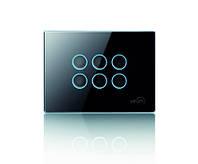 Сенсорный универсальный выключатель Vitrum 6-канальный, Classic, европейский стандарт
