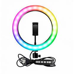 Селфи-кільце Led ліхтарик USB RGB MJ260