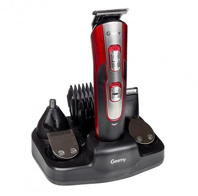 Акумуляторна машинка для стрижки Gemei Gm-592, 10 в 1 (набір для стрижки волосся і бороди)