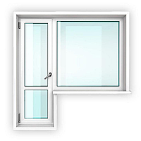 Балконный блок металлопластиковый белый