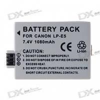 Аккумулятор CANON LP-E5 Rechargeable 7.4V 1080mAh Li-ion