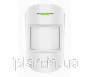 Бездротовий комбінований датчик руху і розбиття скла AJAX COMBIPROTECT (WHITE)