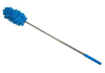 Мітла для змахування пилу Duster Microfiber Yonic блакитний 28-75 см, пипидастр для прибирання пилу   мітелка