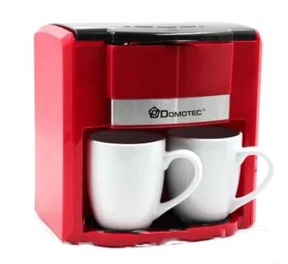 Капельная кофеварка на две чашки | Кофемашина DOMOTEC MS-0705 Красная (500 Вт)