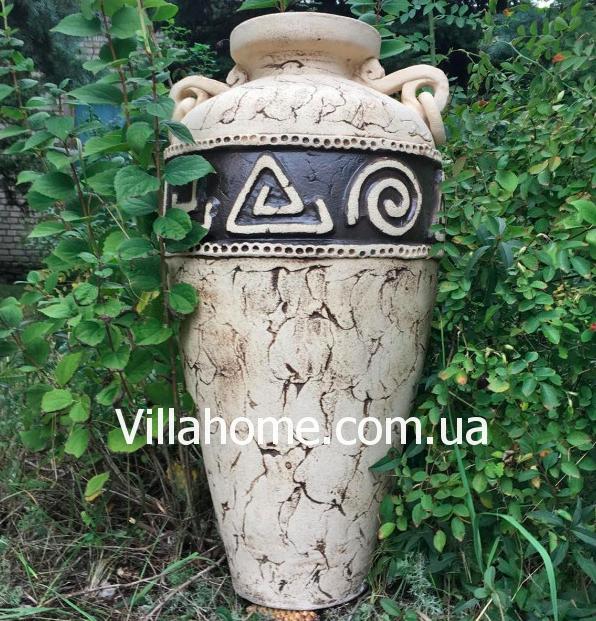 Висока садова ваза з шамоту. Висота 77 див. Шамотна кераміка