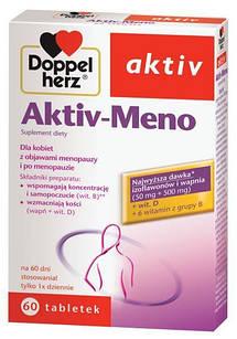 Doppelherz Aktiv, Meno Forte с изофлавонами сои, витаминами группы  B, D, кальцием  60 таб