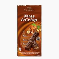 Шоколад черный с фундуком Chateau Nuss Crisp 200г