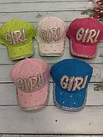 Кепка детская для девочки Girl размер 52-54 см, цвета указывайте при заказе, фото 1