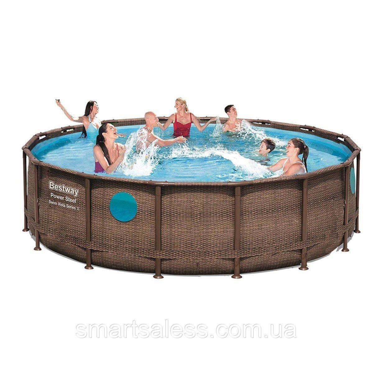 Круглий каркасний басейн, 488 х 122 см, чаша+каркас