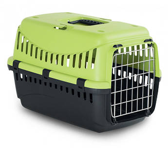 Контейнер-переноска для собак і котів з металевої дверима Gipsy 1 Small Metal салатовий 44x28,5x29,5h см